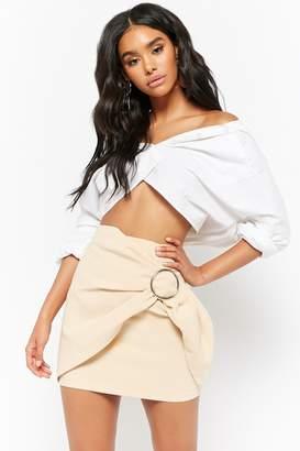 Forever 21 O-Ring Wrap-Front Mini Skirt