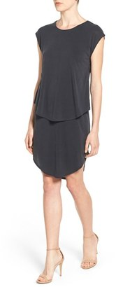 Women's Trouve Crossover Back Cap Sleeve Dress $69 thestylecure.com