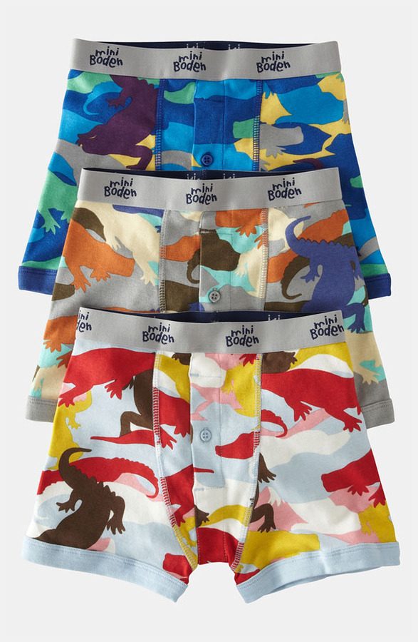 Mini Boden Boxers (3-Pack) (Toddler, Little Boys & Big Boys)