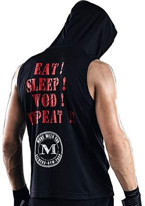 Möve With You Men Boxing Fitness Sports Shirts Hoodie Sleeveless Workout Tank Top