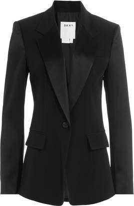 DKNY Tailored Blazer with Satin