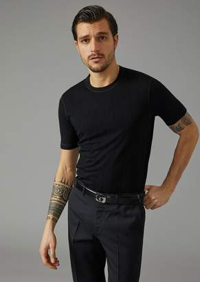 Giorgio Armani T-Shirt With Cut Square Design