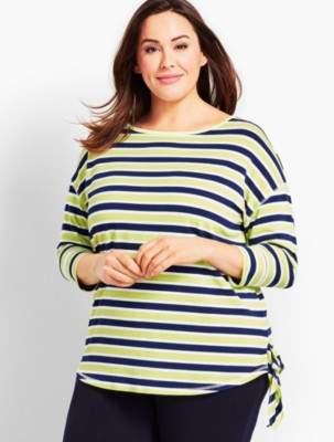 Talbots UPF 50+ Zingy Stripe Jersey Top
