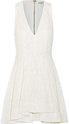 Alice + Olivia Alice Olivia - Tanner Beaded Embroidered Cotton Mini Dress - White $790 thestylecure.com