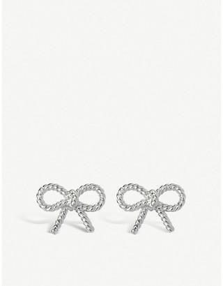 Olivia Burton Vintage Bow sterling silver earrings