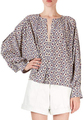 Isabel Marant Amba Abstract-Floral A-Line Tunic