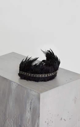 BCBGMAXAZRIA Faux Leather Feather Belt