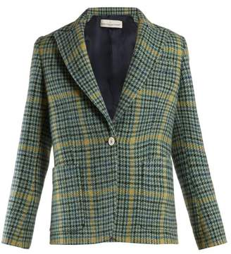 Golden Goose Venice Single Breasted Checked Blazer - Womens - Green Multi