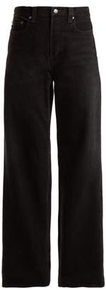 Balenciaga Low Rise Wide Leg Jeans - Womens - Black