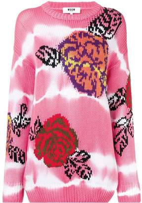 MSGM rose knit sweater