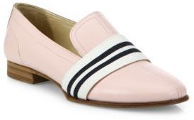 Rag & Bone Alfie Stripe Web Leather Loafers $395 thestylecure.com