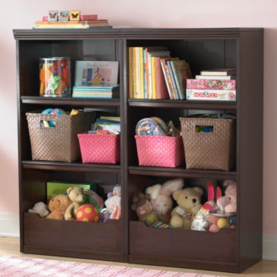 Espresso Flat Top Bookcase, 48