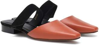 Neous Epi leather and suede slippers