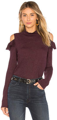 Lanston Cold Shoulder Ruffle Top