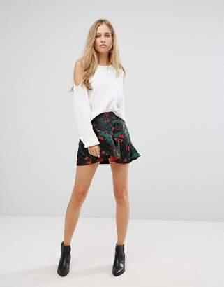 Vero Moda Floral Ruffle Mini Skirt