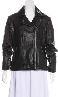 MICHAEL Michael Kors Zip-Up Leather Jacket