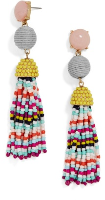 Catalina Tassel Earrings $42 thestylecure.com