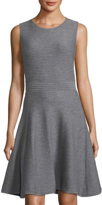 Catherine Malandrino Sleeveless Textured Knit Fit-&-Flare Dress