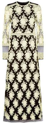 Burberry Sheer Floral Dress