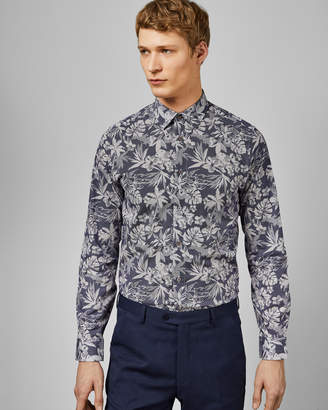 Ted Baker PANDAR Floral dot print cotton shirt