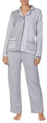 DKNY Two-Piece Fleece Notch Pyjama Set