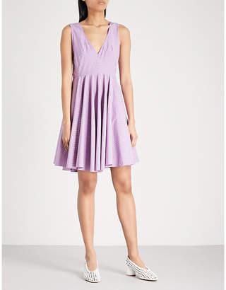 Sandro Stripe pattern cotton dress