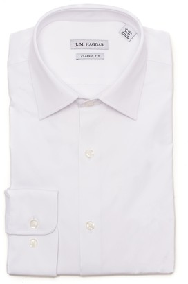 Haggar Men's J.M. Premium Performance Regular-Fit Stretch Dress Shirt