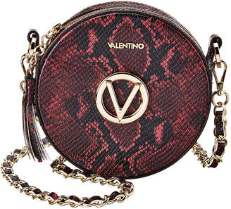 Mario Valentino Valentino By Yuki Python-Embossed Leather Crossbody