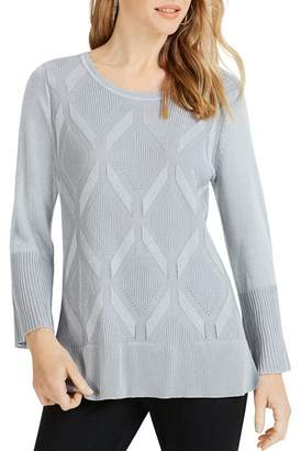 Foxcroft Dion Diamond Knit Sweater