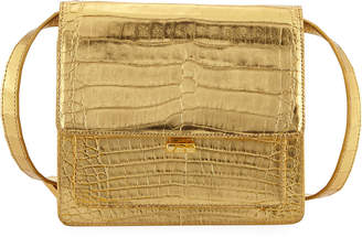 Nancy Gonzalez Gili Metallic Crocodile Crossbody Bag