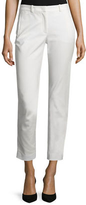 Joseph Eliston Sateen Ankle Trousers $335 thestylecure.com