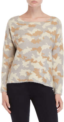 Central Park West Montana Ace Boatneck Camo Sweater
