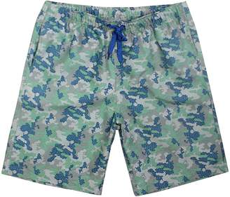 Trunks Chetstyle Camo Quick Drying Swim Trunk Men Loose Functional Portable Board Shorts with Pockets Drawstring Elastic Waist Watershorts Size XXL Green