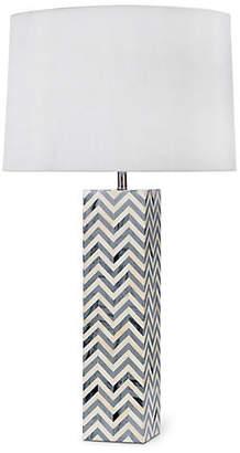 Chevron Bone Table Lamp - Gray - Regina Andrew