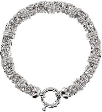 Bronzo Italia Polished & Textured Byzantine Bracelet