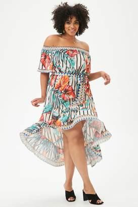 Forever 21 Plus Size Printed High-Low Dress