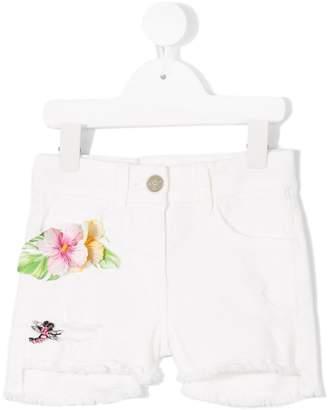 MonnaLisa floral appliquéd shorts