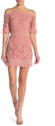 J.o.a. Off-The-Shoulder Lace Dress
