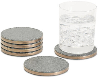 Global Views Set of 6 Alpen Coasters - Gray