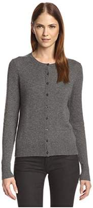 Cashmere Addiction Women's Crewneck Cardigan