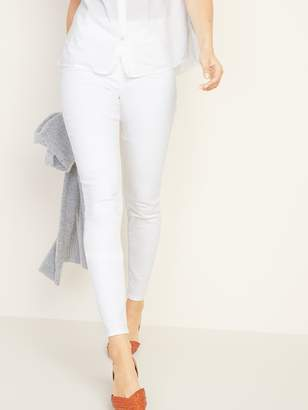 Old Navy Mid-Rise White Rockstar Pull-On Jeggings for Women