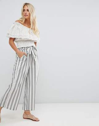 Moon River stripe wide leg pants