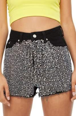 Topshop Crystal Mom Shorts