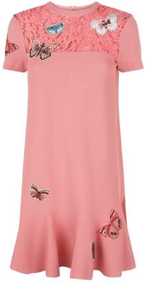 Valentino Butterfly Embellished Dress