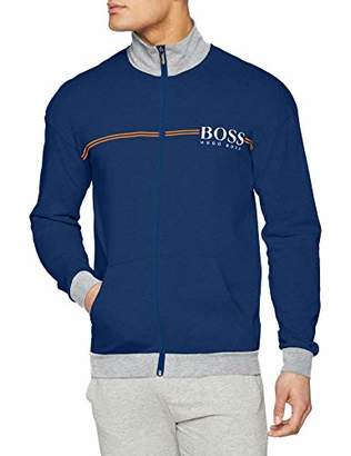 BOSS Men's Authentic Jacket Z Sweatshirt, (Bright Blue 438), X-Large