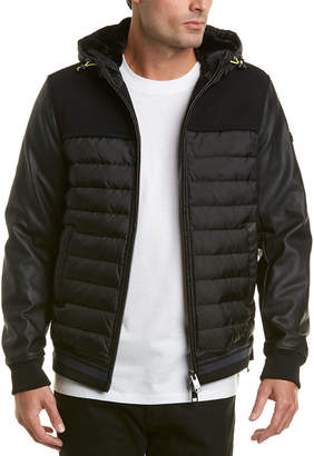 Armani Exchange Padded Wool-Blend Jacket