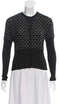 Christian Dior Open Knit Button-Up Cardigan