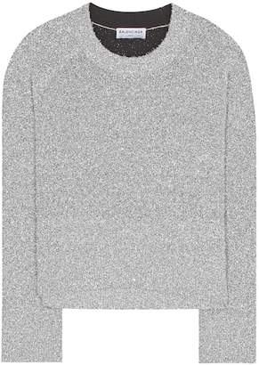 Balenciaga Lamé knitted sweater