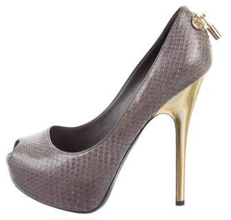 Louis Vuitton Snakeskin Oh Really! Pumps