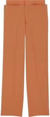 Burberry Tumbled Wool Wide-leg Trousers